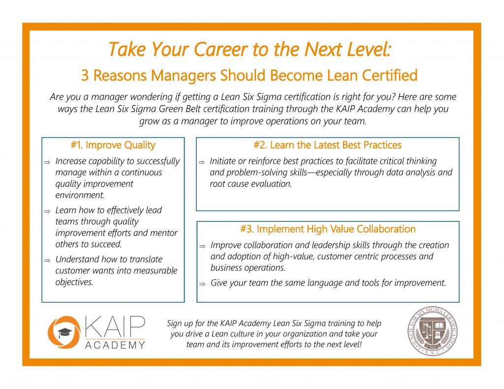 Why The Lean Six Sigma Green Belt Is Ideal For Managers Infographic